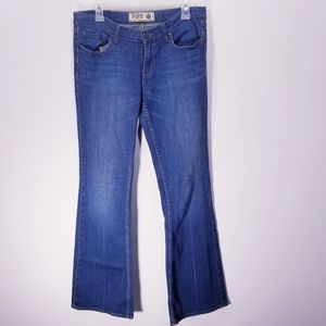 Pink Denim Jeans Flare Leg size 10 Long